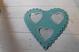 Fotokader metaal hart blauw