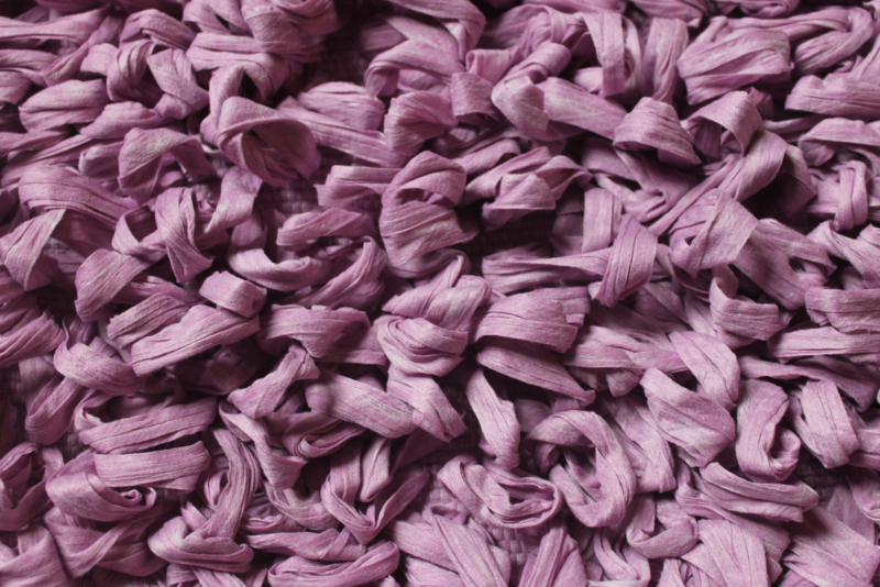 Tapijtje met grote lussen lavendel