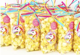 Unicorn popcorn zakjes