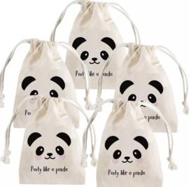 Katoenen panda zakjes