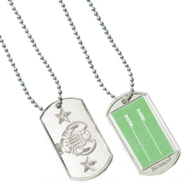Camouflage hals ketting