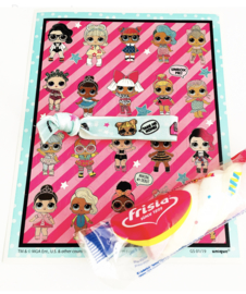 L.O.L. stickers + elastiek + spekje