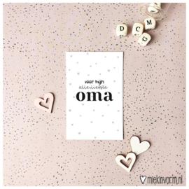 Mini kaartje Oma