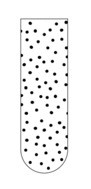 Magnetische Boekenlegger Dots wit