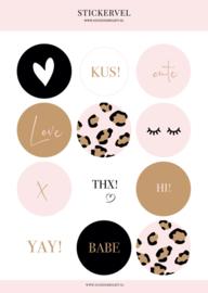 Stickervel Pink