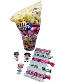 L.O.L popcorn + armbandje