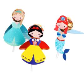 Mermaid, Sneeuwwitje, Prinses lolly houders