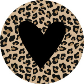 Leopard Black Heart