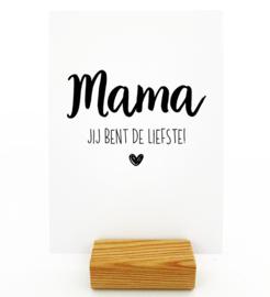 Kaart Mama jij bent de liefste