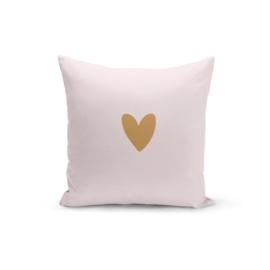 Kussen XL | Pink & Golden HEART