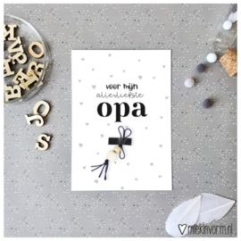 Kaart Opa + gelukspoppetje
