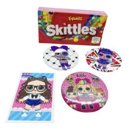 L.O.L. Button+ Skittles