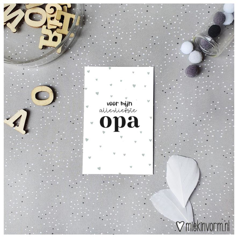 Mini kaartje Opa