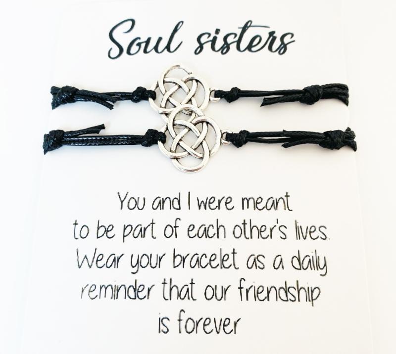 Soul sisters armband zwart