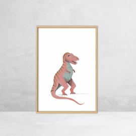 Poster Dinosauriërs -  Illustratie Tyrannosaurus Rex