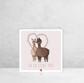 Wenskaart Liefde  - Lama