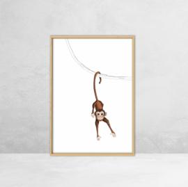 Poster Jungle dieren -  Illustratie Aap