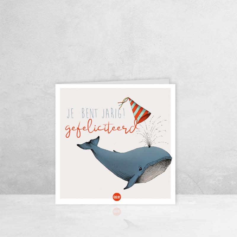 Wenskaart Verjaardag - Walvis