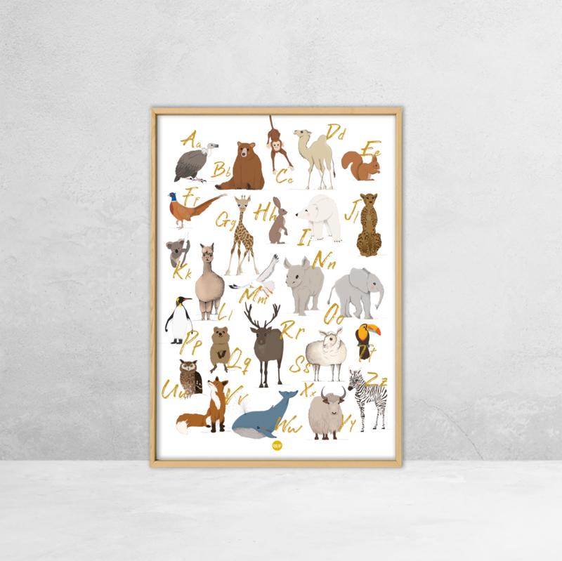 Poster dieren ABC - 50 x 70