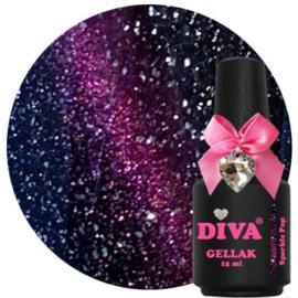 Diva Gellak Cat Eye Sparkle Pop 15 ml