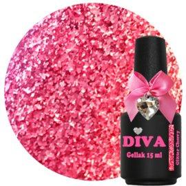 Diva Gellak Glitter Cherry 15 ml