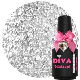 Diva Gellak Glitter Silver 15 ml