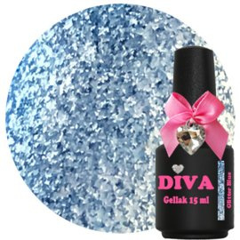 Diva Gellak Glitter Blue 15 ml