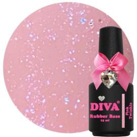 Diva Rubberbase Pink Twinkle 15ml