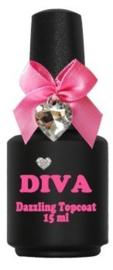 Diva Dazzling Topcoat zonder plaklaag 15ml