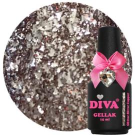 Diva Gellak Glitter Silver Copper 15 ml