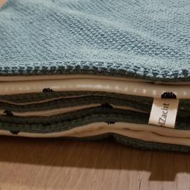 Ledikantdeken jeans blauw vs. Stip