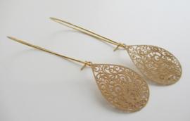 Goudkleurige bohemian oorbellen