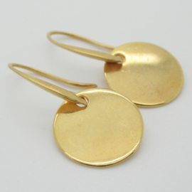 Goudkleurige munt oorbellen