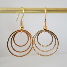 Goudkleurige cirkel oorbellen