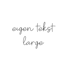 eigen tekst - lettertype Olivier - LARGE