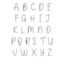 """DIY (eigen naam) kerstbalsticker -  lettertype """"Olivier"""""""
