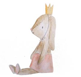 Muursticker Konijntje met kroon (THE MIJKSJE COLLECTION)