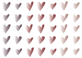 hartjes 3 kleuren (donker)