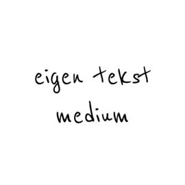 eigen tekst - lettertype Boris - MEDIUM