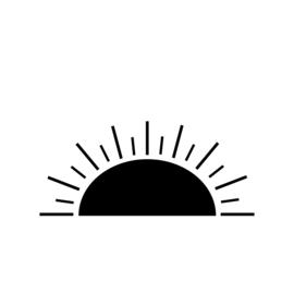 Meerdere kleuren: zonsopgang/ondergang (75 cm breed)