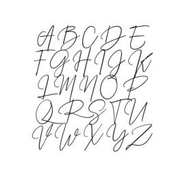 Meerdere kleuren: lettertype Carlijn