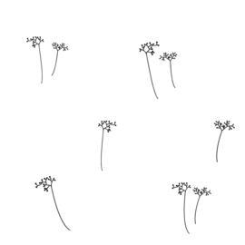 Pluisjes met bloem
