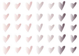 Hartjes 3 kleuren (licht)