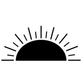 Meerdere kleuren: zonsopgang/ondergang (100 cm breed)