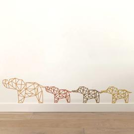 Meerdere kleuren: Olifantje ( 23 cm) slurf omhoog