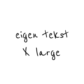 eigen tekst - lettertype Boris - X LARGE