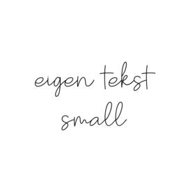eigen tekst - lettertype Olivier - SMALL
