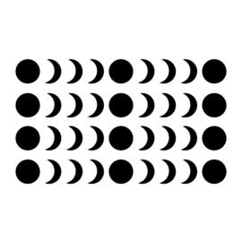 Meerdere kleuren: Maan fases (enkel)