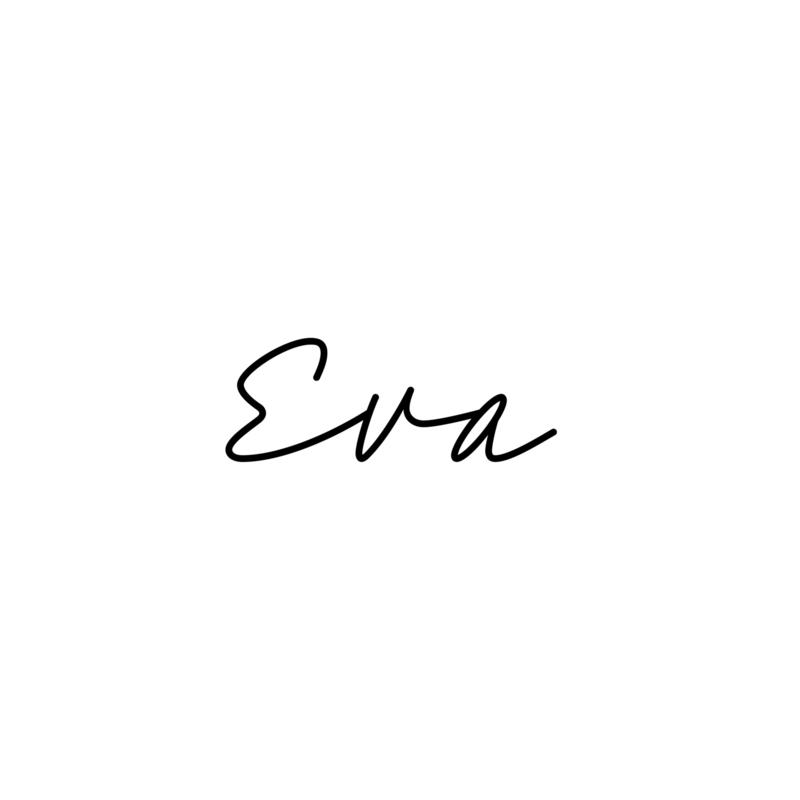 Meerdere kleuren: lettertype Eva