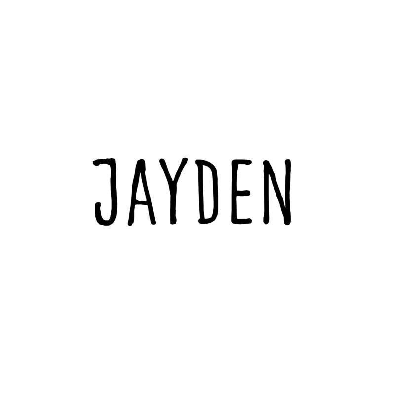 Meerdere kleuren: lettertype Jayden